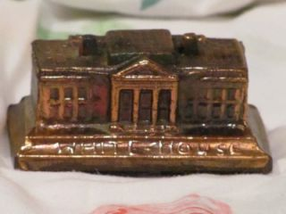 Vintage Metal Souvenir Building Whitehouse Washington DC
