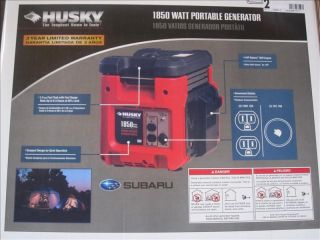 Husky 1 850 Watt Gasoline Powered Portable Generator
