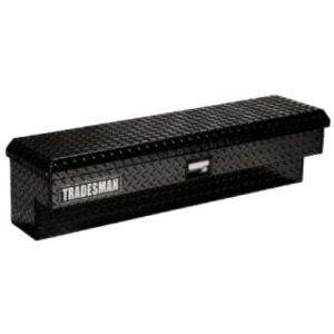 TAL480BK 48 Black Aluminum Side Mount Tool Box Truck Full Size