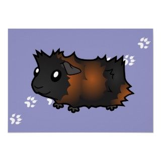 Cartoon Guinea Pig (black brindle) Posters
