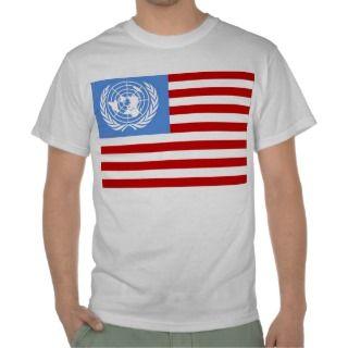 anti obama UN USA FLAG Libya NWO Open society Tees