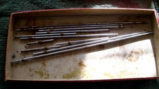 Vintage Starrett Tool Gauges. Mixed Lot of 11 with box. Lufkin Precise
