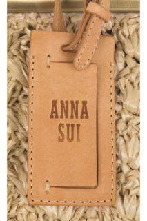 Anna Sui Raffia frame bag   85% Off