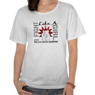 Fight Like A Girl Lung Cancer 8.5 Tee Shirts