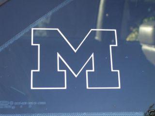 Michigan Wolverines Large Vinyl Decal Sticker 14 x 10