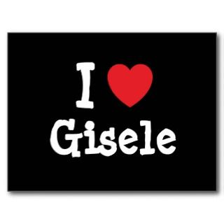 love Gisele heart T Shirt Post Cards