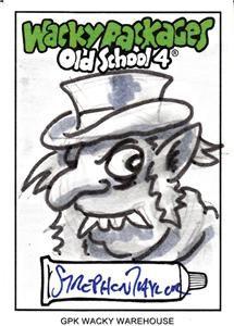 Old School 4 Original Sketch Card Art Hydes Rox Strephon Taylor