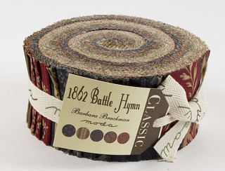 Barbara Brackman 1862 Battle Hymn Jelly Roll 2 5 Fabric Quilting