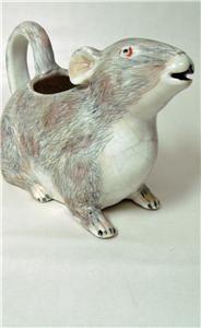 Antique Rat Creamer Cream Milk Pitcher Figural Unusual Old English