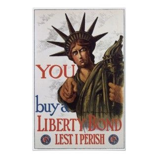 Vintage Buy Liberty Bonds WWI 1917 Poster Art
