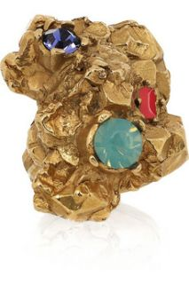 Yves Saint Laurent Arty Too gold plated Swarovski crystal ring   30% Off