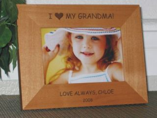 5x7 I Love My Grandma Picture Frame Personalized
