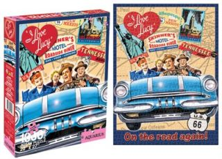 Love Lucy 1000 Piece Jigsaw Puzzle on The Road Agian Fred Ricky