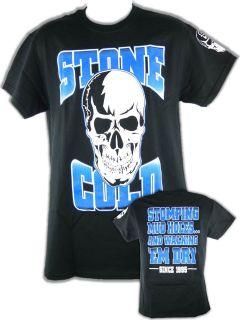 Stone Cold Steve Austin Stomping Mudholes White Skull T Shirt