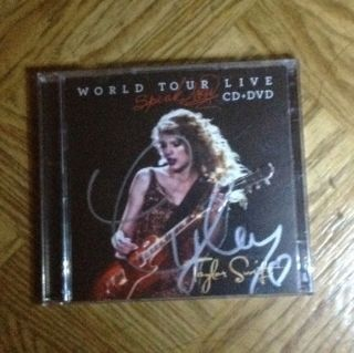 SWIFT WORLD TOUR LIVE CD + DVD Speak Now Autographed Hand Signed CD