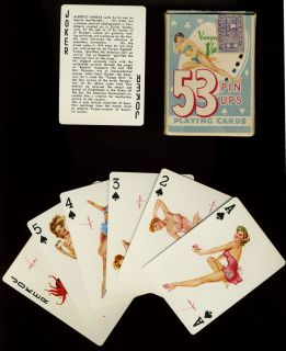53 Vargas Girls Pin Up Playing Cards in Original Box Vargas Vanities