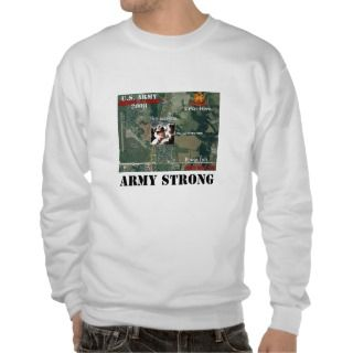 ARMY   Fort Sill Army Strong Pull Over Sweatshirt