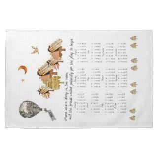 Little Women Inspired 2013 Calendar kitchen towel