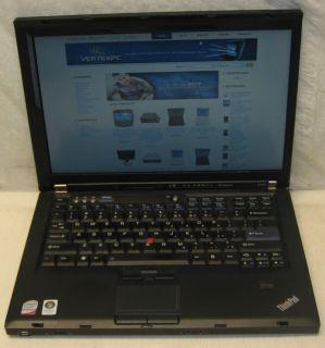 IBM Lenovo Laptop Notebook r400 Dual Core 2 Duo 2 26GHZ 80GB 2GB