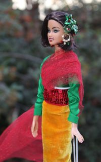 OOAK Hindu Holiday Barbie Teresa Doll Repaint by Ibrahim Ismael
