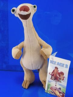 Ice Age 3 Dawn Dinosaurs Sid Plush Cute 9 New