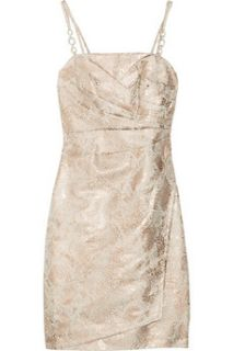 Kay Unger Metallic brocade cotton blend dress