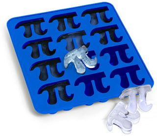 Pi Symbol Silicone Ice Cube Tray 12 Cubes New Mold Jello Soap Baking