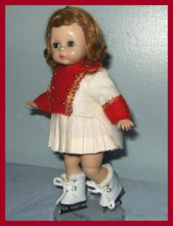 Free U s Shipping Faux Fur Trim Ice Skates Doll Shoes for Ginny Ginger