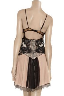 Julien Macdonald Lace detailed silk chiffon dress