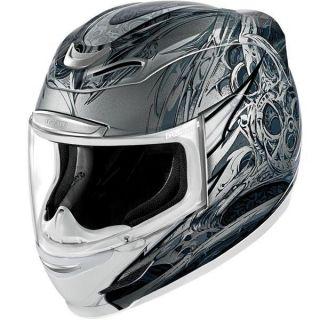 Icon Airmada Sportbike SB1 Helmet SM Silver