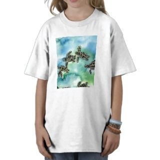 baby sea turtles reptile animal wildlife painting t shirt