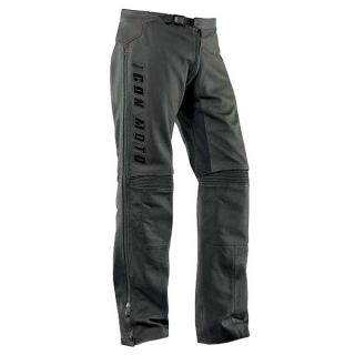 Icon Motorcycle Street Automag Leather Pants Black Adult Mens Sizes