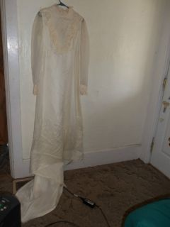 Vintage Handmade Bridal Wedding Dress Gown Retro