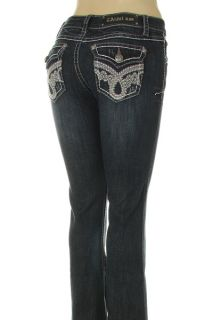 La Idol Denim Jeans Womens Heavy Stitched Stretch Bootcut LY1145LP