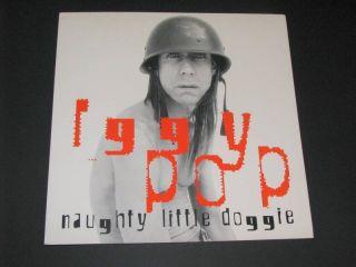 Iggy Pop Naughty Little Doggie RARE Album Poster Flat
