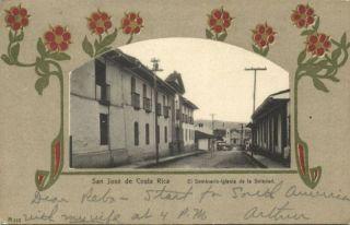 Costa Rica San Jose Seminario Iglesia Soledad 1904