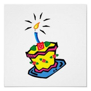 1r Torta de cumpleaños Posters de