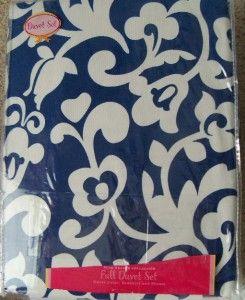 Swell Duvet Cover Bed Skirt Sham Dust Full 4 Pcs New