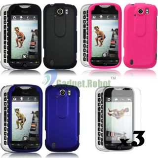 RUBBERIZED RUBBER HARD CASE COVER SCREEN PROTECTOR FOR HTC MYTOUCH