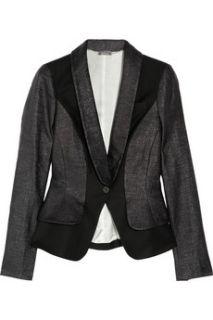 Alexander McQueen Paneled coated woven wool jacket
