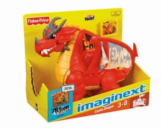 Fisher Price Imaginext Castle Dragon w Sound Effects and Light Up