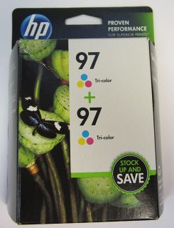 HP Combo Pack 97 Tri Color and Tri Color Office Jet Ink Cartridges