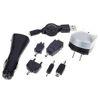 USD $ 6.99   3 in 1 USB AC and Car Charger (with Cell Phone Adapters