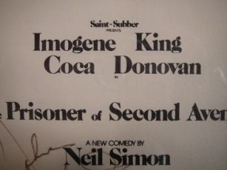 Imogene Coca King Donovan Signed New Orleans Program