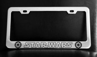 Starwars Imperial License Plate Frame Custom Made of Chrome