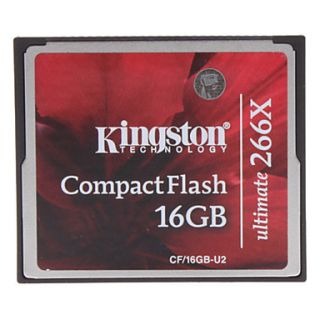 $ 35.49   16GB Kingston Ultimate 266X Compact Flash CF Memory Card