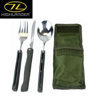Highlander NATO Style KFS Cutlery Set Camping Bushcraft Miltary Army