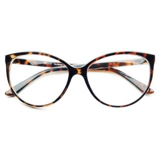 Gorgeous Retro Style Clear Cat Eye Glasses in Tortoise Brown C222