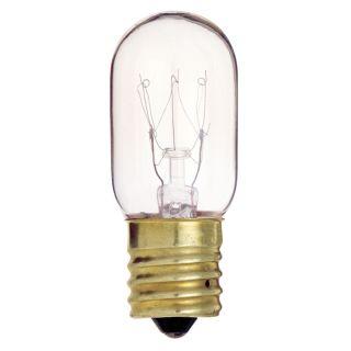 15W 130V T7 Clear E17 Intermediate Base Incandescent Light Bulb