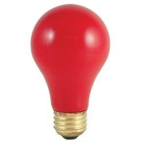 Watt A19 Ceramic Red Incandescent Medium Base Party Light Bulb